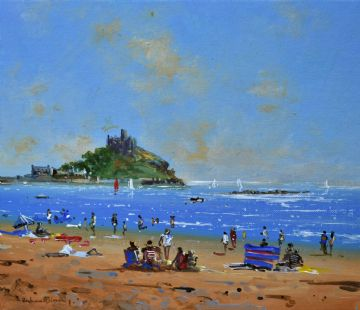 Richard Blowey Original Oil Painting St Michael's Mount Cornwall